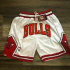 Chicago Bulls Basketball Shorts Vintage Retro Mens Finals White Sizes S-2XL US