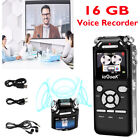 Mini Digital Voice Recorder HD LCD Sound Audio Dictaphone USB Rechargeable UK