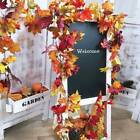 180cm Artificial Autumn Fall Maple Leaves Garland Hanging Plant Home Decor Uk