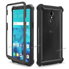 For LG Stylo 5 4 6 K51 Shockproof Hybrid Rugged Armor Case Cover +Tempered Glass