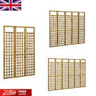 3-Panel Room Divider/Trellis Privacy Screen Foldable Solid Acacia Wood 3 Sizes