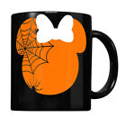 Cute Mouse Halloween With Bow And Spider Pumpkin Coffee Mug 125