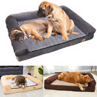 Jumbo Orthopedic Pet Dog Bed Soothing Bolster Lounger Hardwearing Waterproof Bed