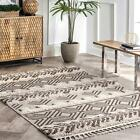 nuLOOM Zuri Shaggy Banded Tribal Area Rug in Brown