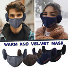 Unisex Face Mask Reusable washable 2-in-1 Mouth Cover Earmuff Plush Warm Mask