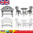 Garden Bistro Table And Chairs Set Cast Aluminium Outdoor Furniture Park Seat