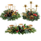 Decorated Christmas Candle Holder Table Centre Piece Gold