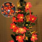 20 LED Maple Leaves Fall Garland String Light Decors Halloween Xmas/Party Prop