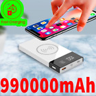 Power Bank 990000mAh  Wireless External Battery Charger Mobile Phone Fast Chargi