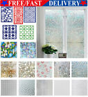 PVC 3D Static Cling Cover Frosted Window Glass Film Sticker Privacy Decor NEW