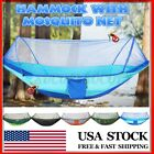 Outdoor Camping Double Person Tent Sleeping Hanging Hammock Bed w/ Mosquito Net