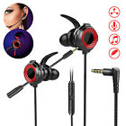 Wired 3.5mm Gaming Headset Headphones In-Ear Mic Stereo Earbuds For PS4 Xbox One