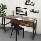 Large Computer Study Student Desk Laptop Table with Shelf Home Office Furniture