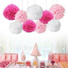 9 Pcs Tissue Paper Pompoms Pom Poms Hanging Garland Wedding Party Decoration