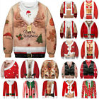 Ugly Christmas Womens Mens Fancy 3D Sweater Xmas Jumper Pullover Tops Sweatshirt