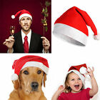 2020 Kids& Adult Soft Plush Ultra Thick Santa Claus Christmas Cap Red Hats Gift