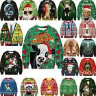 Mens Christmas Santa Ugly Sweater Jumper Sweatshirt Pullover 3D Xmas Funny Tops