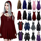 Women Vintage Gothic Punk Lolita Steampunk Swing Dresses Clubwear Party Dresses