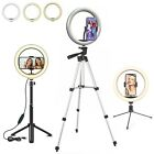 10' LED Selfie Ring Light with Tripod Phone Holder Stand For Makeup Live Stream
