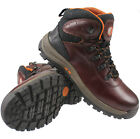 MENS LEATHER ANKLE BOOTS LIGHTWEIGHT WALKING HIKING TRAIL TREK WORK BOOTS SHOES
