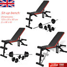 'Exercise Weight Bench Sit Up Adjustable With Barbell And Dumbbell Set Home Gym