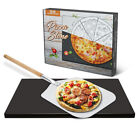 15 x 12 inch Pizza Stone Grill Baking Stone for Oven and BBQ,Large Pizza Peel