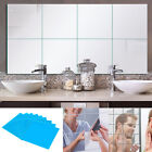 9/16/32x Diy Self Adhesive Square Mirror Tile Wall Sticker Art Decals Home Decor
