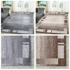 Living Room Rugs Modern Grey Brown Abstract Rug Small Extra Large Floor Carpets