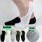 5/10 Pack Men Solid Invisible No Show Nonslip Loafer Boat Low Cut Bamboo Socks