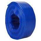25/38/50/75mm Layflat Water Delivery Hose PVC Discharge Pump Lay Flat Pipe Blue