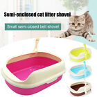 Large Cat Kittens Litter Tray Set with Bowls + Scoop Open Plastic Box Toilet Rim