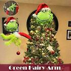 Christmas Decorations Furry Green Grinch Arm Ornament Holder Tree Sets