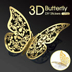 12 Pk 3d New Butterfly Wall Decals Stickers Removable Kids Nursery Decoration Au