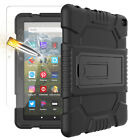 """For Amazon Kindle Fire 7"""" / HD 8"""" Plus Rugged Stand TPU Case + Screen Protector"""
