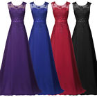 GK Women Sleeveless V-Back Chiffon Ball Gown Evening Prom Party Dress Plus Size