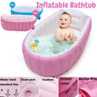 Folding Baby Bath Inflatable Portable Bathtub Toddler Shower Non Slip Safety Tub