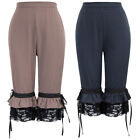 Cosplay Pants Trousers Costume Summer Steampunk Vintage Ladies Cropped