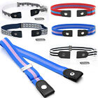 Unisex Casual Simple Waist Belt Invisible Elastic Stretch Buckle-Free Waistband