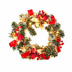 30cm 50 LEDs With Mixed Decorations Indoor Outdoor Garden Christmas Wreath Party