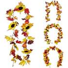 Halloween Fall Door Pumpkin Floral Wreath Autumn Maple Leaf Garland Home Decor