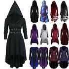 Women Halloween Medieval Hooded Dress Gothic Witch Vampire Cosplay Costume USA