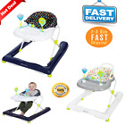 Baby Walker Foldable High Back Seat Adjustable Toddler Activity Toys Tray NEW