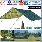 Lightweight Camo Camping Tent Tarp Shelter Rain Fly Cover Picnic Pad 6.5/10ft US