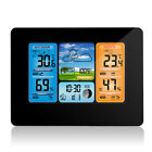 LCD Wireless Weather Station Indoor Outdoor USB Digital Forecast Alarm Clock