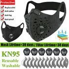 Washable Sport Breathing Valve Face Maske With Activated Carbon Filters Reusable