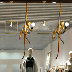 Industrial Monkey Resin Hemp Rope Chandelier Lamp Retro Pendant Ceiling Light US