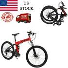 Outroad Mountain Bike 21 Speed 26 inch Folding Bike Disc Brake Bicycles USA