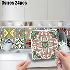 ~24pcs Color Tile Stickers Home Decoration Self-adhesive Waterproof Stickers  ~