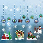2020  Christmas Wall Stickers Window Santa Murals New Year Home Decor Stickyuau