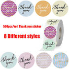 500Pcs/roll 8styles Thank You Sticker for Seal Labels Round Multi Labe$j